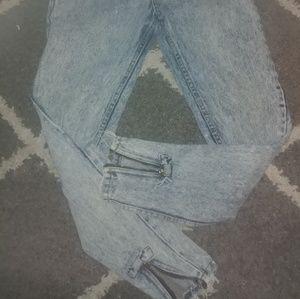 Vtg Jordache High waist cigarette skinny zip ankle